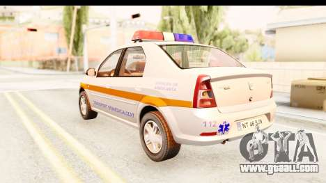 Dacia Logan Facelift Ambulanta v2 for GTA San Andreas left view
