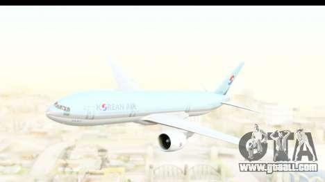 Boeing 777-200ER Korean Air for GTA San Andreas back left view