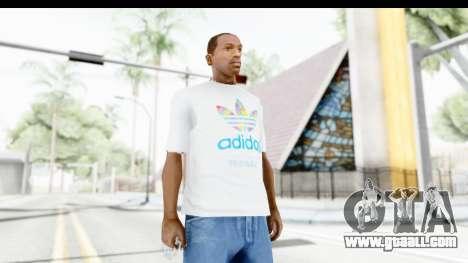 Adidas White T-Shirt for GTA San Andreas
