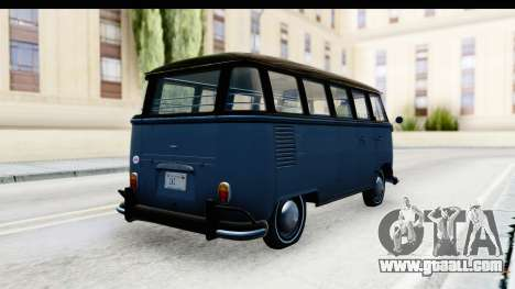 Volkswagen Transporter T1 Deluxe Bus for GTA San Andreas back left view