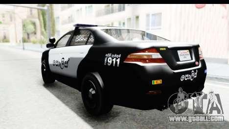 Sri Lanka Police Car v1 for GTA San Andreas left view
