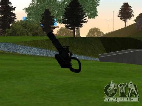 M134 MINIGUN BLACK for GTA San Andreas second screenshot