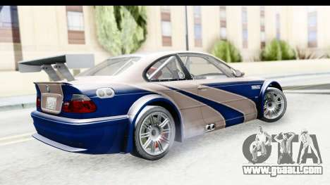 NFS Carbon - BMW M3 GTR for GTA San Andreas left view