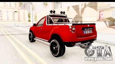 Dacia Duster Pickup for GTA San Andreas left view