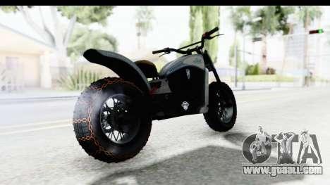 GTA 5 Western Gargoyle Custom v2 IVF for GTA San Andreas back left view