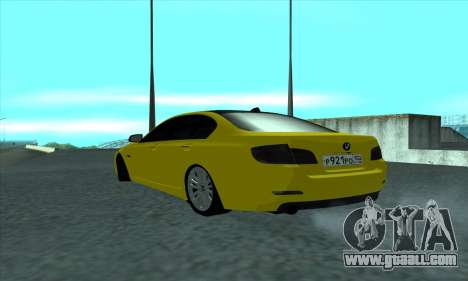 BMW 525 Gold for GTA San Andreas back left view