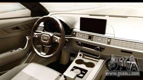 Audi A4 TFSI Quattro 2017 for GTA San Andreas inner view