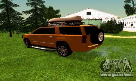 Chevrolet Suburban for GTA San Andreas back left view