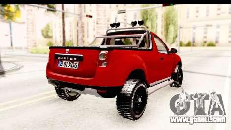 Dacia Duster Pickup for GTA San Andreas back left view