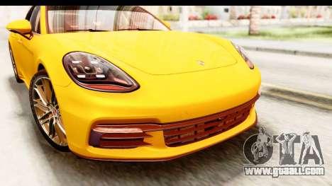 Porsche Panamera 4S 2017 v3 for GTA San Andreas inner view