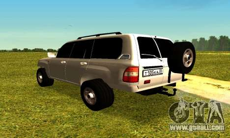 Toyota Land Cruiser 105V for GTA San Andreas left view