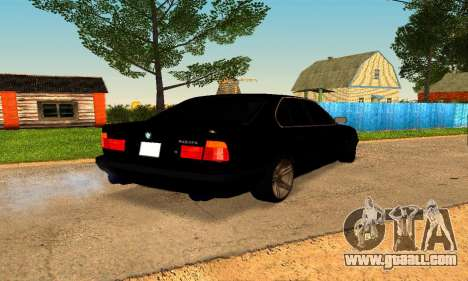 BMW 5-er E34 for GTA San Andreas back left view