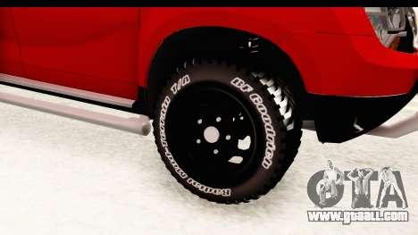 Dacia Duster Pickup for GTA San Andreas back view