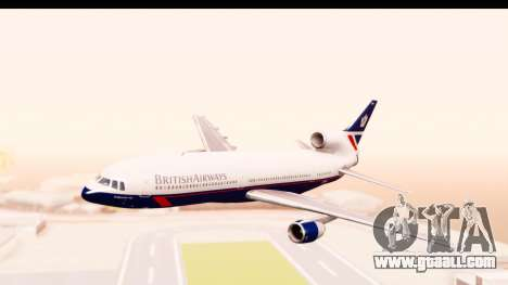 Lockheed L-1011-100 TriStar British Airways for GTA San Andreas back left view