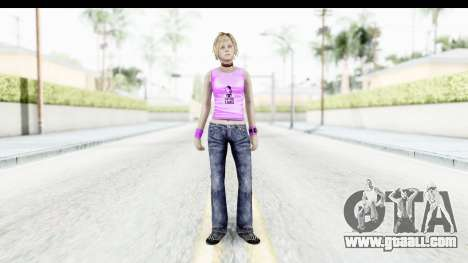 Silent Hill 3 - Heather Sporty Neon Pink for GTA San Andreas second screenshot
