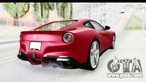 Ferrari F12 Berlinetta 2014 for GTA San Andreas right view