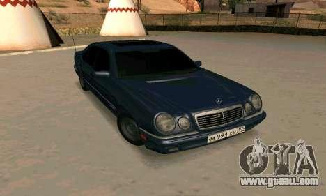 Mercedes-Benz E420 for GTA San Andreas inner view