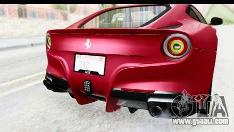 Ferrari F12 Berlinetta 2014 for GTA San Andreas bottom view
