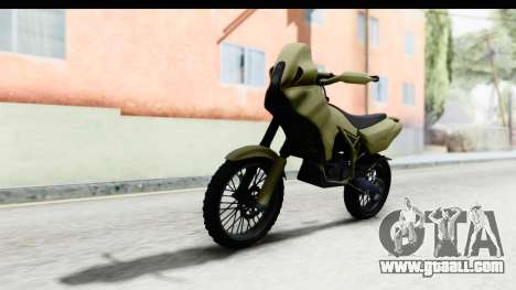 GTA 5 Nagasaki BF400 Stock IVF for GTA San Andreas back left view