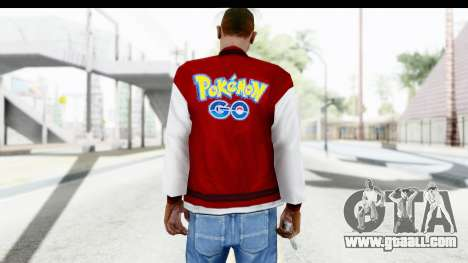 Jacket Pokemon Pokeball for GTA San Andreas second screenshot