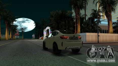 BMW X6M Bulkin Edition for GTA San Andreas back view
