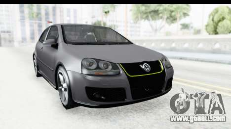 Volkswagen Golf 5 Stock for GTA San Andreas right view