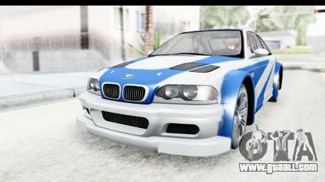 NFS: MW - BMW M3 GTR for GTA San Andreas right view