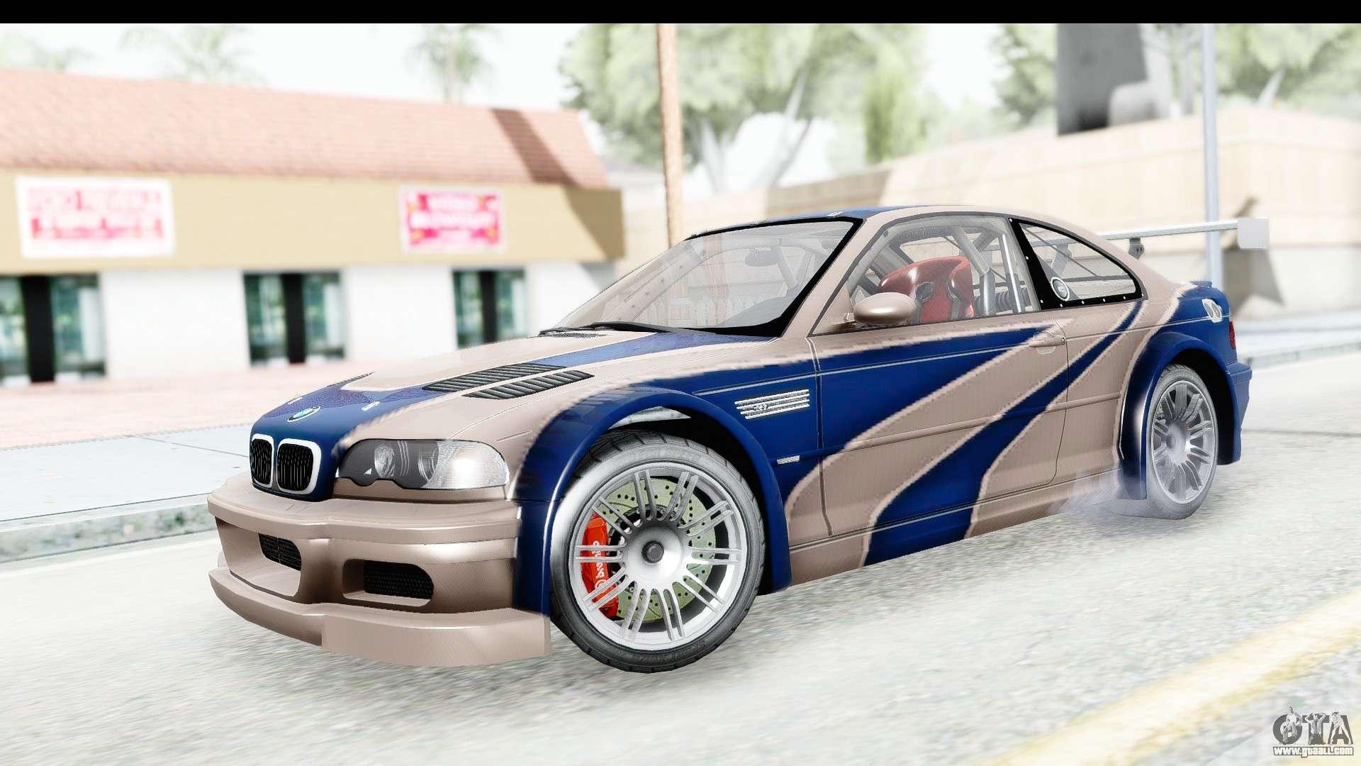Nfs Carbon Bmw M3 Gtr For Gta San Andreas