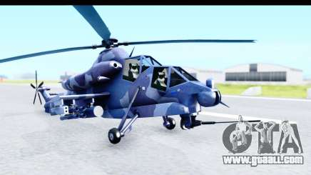 Denel AH-2 Rooivalk Blue for GTA San Andreas