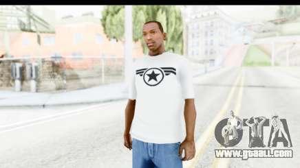 Captain America White T-Shirt for GTA San Andreas