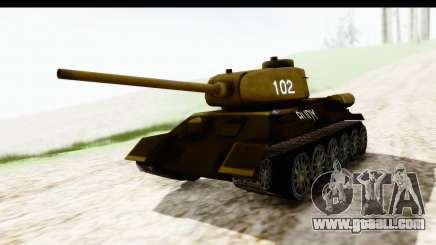 T-34-85 Rudy 102 for GTA San Andreas