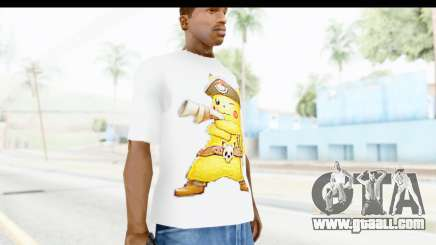 T-Shirt Pokemon Go Pikachu for GTA San Andreas