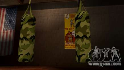 New military punching bag for GTA San Andreas