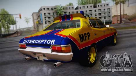 Main Force Patrol Vehicle Mad Max for GTA San Andreas left view