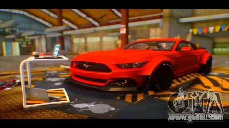 Ford Mustang 2015 Liberty Walk LP Performance for GTA San Andreas back view