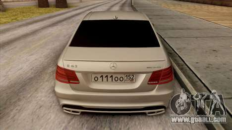 Mercedes-Benz E63 v.2 for GTA San Andreas engine