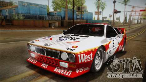 Lancia Rally 037 Stradale (SE037) 1982 Dirt PJ3 for GTA San Andreas back left view