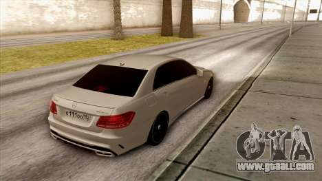 Mercedes-Benz E63 v.2 for GTA San Andreas back view