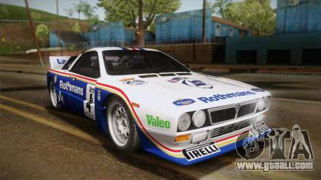Lancia Rally 037 Stradale (SE037) 1982 IVF Dirt2 for GTA San Andreas right view