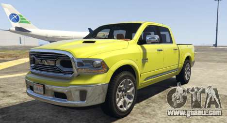 Dodge Ram Limited 2016 for GTA 5
