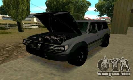 Toyota Land Cruiser 80 for GTA San Andreas inner view