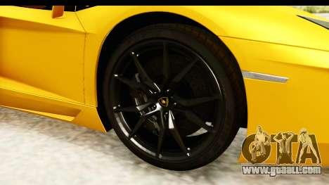 Lamborghini Aventador LP700-4 Roadster v2 for GTA San Andreas back view