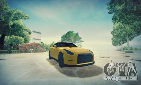 Nissan GT-R R35 Premium for GTA San Andreas upper view