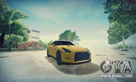 Nissan GT-R R35 Premium for GTA San Andreas upper view