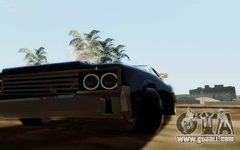 HD Sabre Greedy for GTA San Andreas back view
