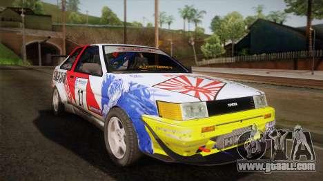 Toyota AE86 2 Door Levin for GTA San Andreas