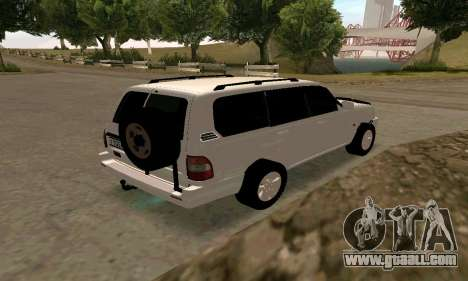 Toyota Land Cruiser 105 for GTA San Andreas right view