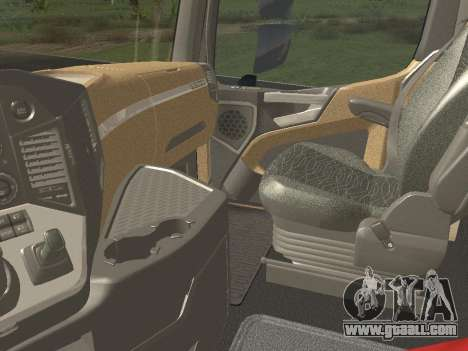 Mercedes-Benz Actros Mp4 6x4 v2.0 Gigaspace for GTA San Andreas inner view