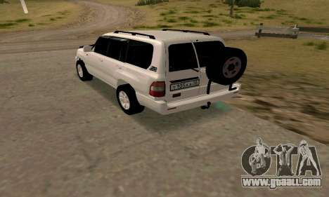 Toyota Land Cruiser 105 for GTA San Andreas back left view