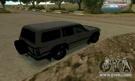 Toyota Land Cruiser 80 for GTA San Andreas right view